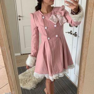 Jackets & Blazers - Pink Lolita Pea Coat